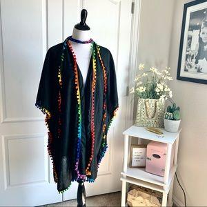 Laleela One Size Open Rainbow Cardigan